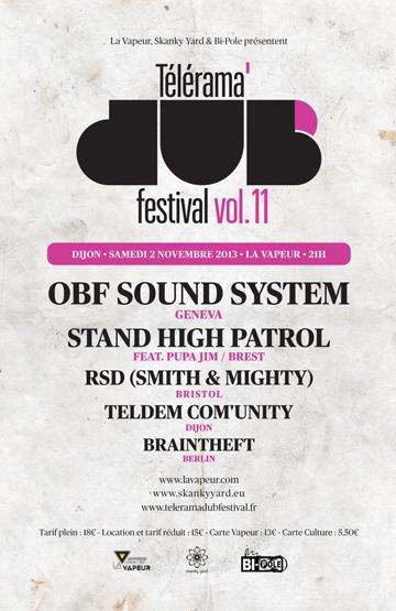 Télérama Dub Festival : Lives & Sound Sytem report
